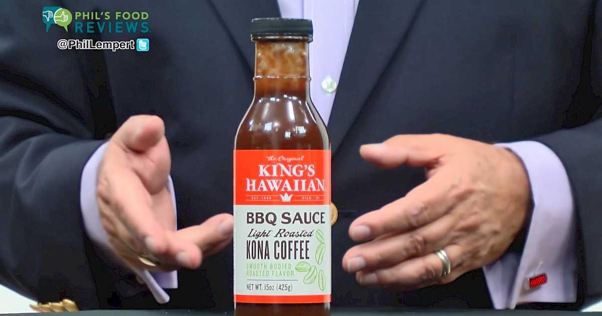 King's Hawaiian BBQ Sauce Light Roasted Kona Coffee is a HIT
