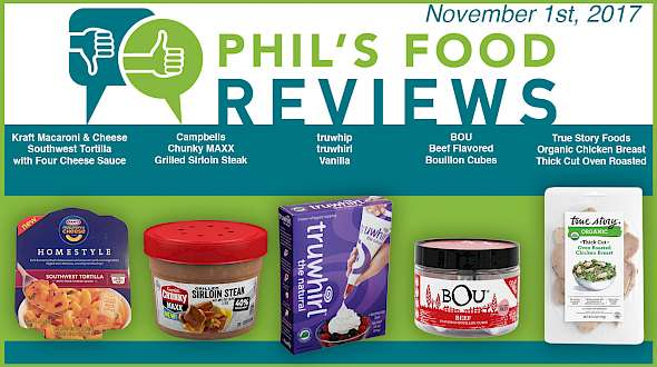 Phil's Food Reviews for November 1st, 2017