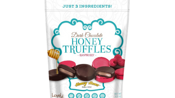 Lovely Candy & Honey Acres Dark Chocolate Honey Truffles Raspberry