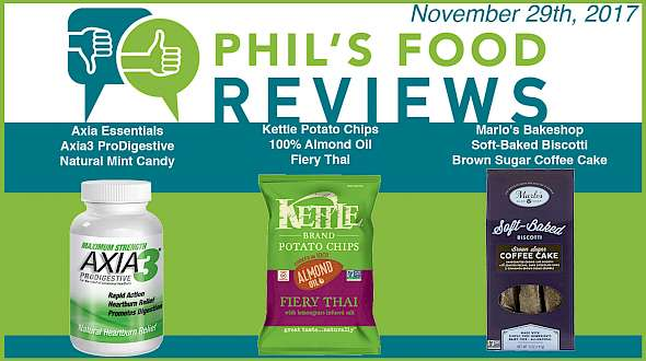 Phil's Food Reviews for November 29th, 2017