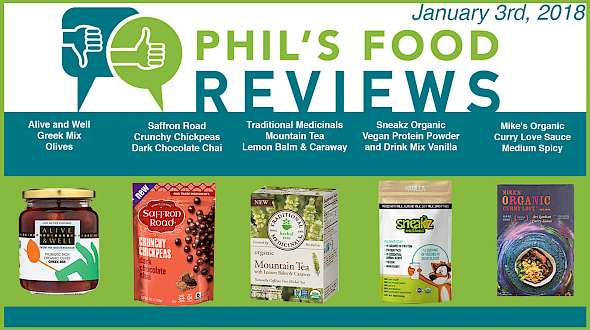 Phil's Food Reviews for January 3rd, 2018