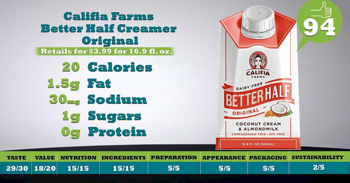 9a6655f91cc64 Califia Farms Better Half Creamer Original | SupermarketGuru