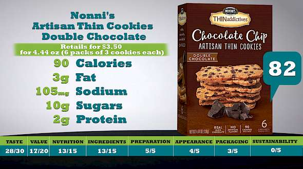 Nonni's Artisan Thin Cookies Double Chocolate