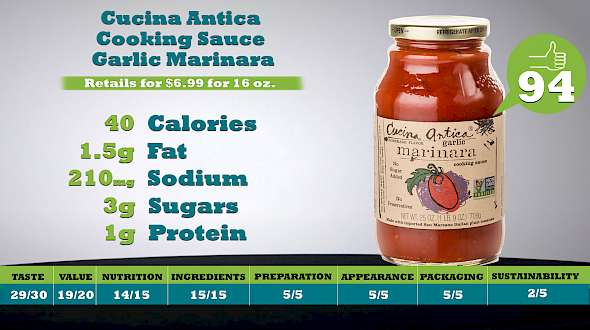 Cucina Antica Cooking Sauce Garlic Marinara