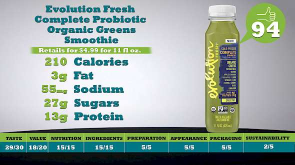 Evolution Fresh Complete Probiotic Smoothie Organic Greens