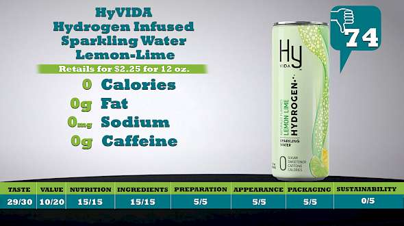 HyVIDA Hydrogen Infused Sparkling Water Lemon-Lime