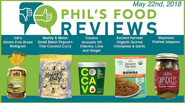 Phil's Food Reviews for Tuesday, May 22nd, 2018