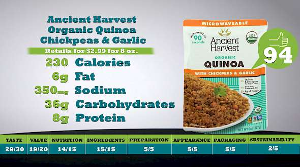 Ancient Harvest Organic Quinoa Chickpeas & Garlic