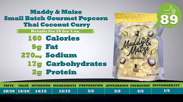Maddy & Maize Small Batch Gourmet Popcorn Thai Coconut Curry