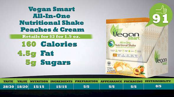 Vegan Smart All-In-One Nutritional Shake Peaches & Cream