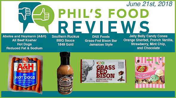 Phil's Food Reviews for June 21st, 2018