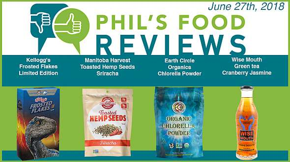 Phil's Food Reviews for June 27th, 2018