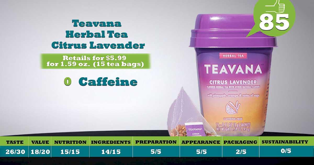 Teavana Herbal Tea Citrus Lavender