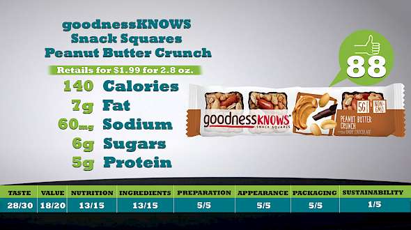goodnessKNOWS Snack Squares Peanut Butter Crunch