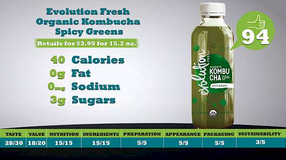 Evolution Fresh Organic Kombucha Spicy Greens