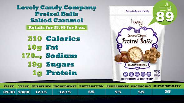 Lovely Candy Company Gluten Free Pretzel Balls Salted Caramel