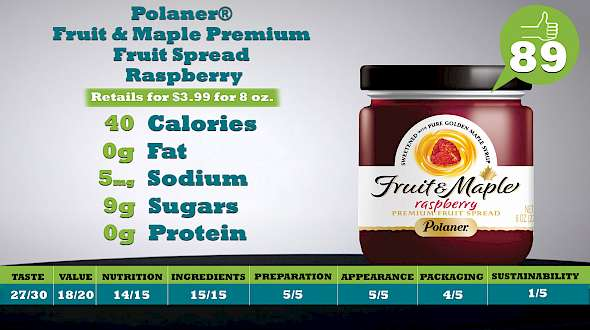 Polaner® Fruit & Maple Premium Fruit Spread Raspberry