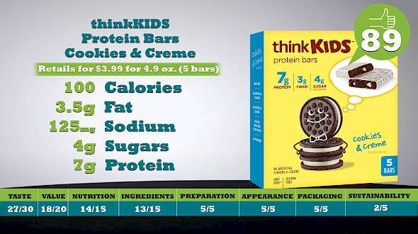 thinkKIDS Protein Bars Cookies & Creme