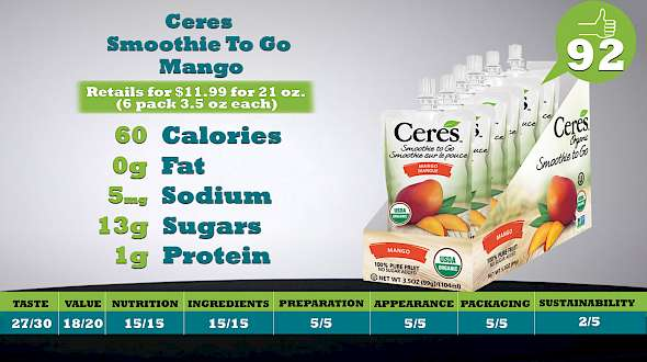 Ceres Smoothie To Go Mango