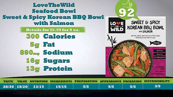 LoveTheWild Seafood Bowl Sweet & Spicy Korean BBQ Bowl with Salmon