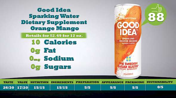 Good Idea Sparking Water Dietary Supplement Orange Mango