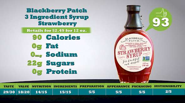 Blackberry Patch 3 Ingredient Syrup Strawberry