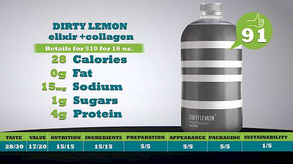 Dirty Lemon elixir +collagen