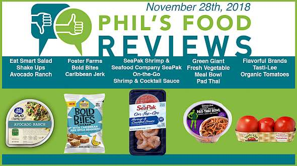 Phil's Food Reviews for November 28th, 2018