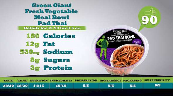 Green Giant Fresh Vegetable Meal Bowl Pad Thai