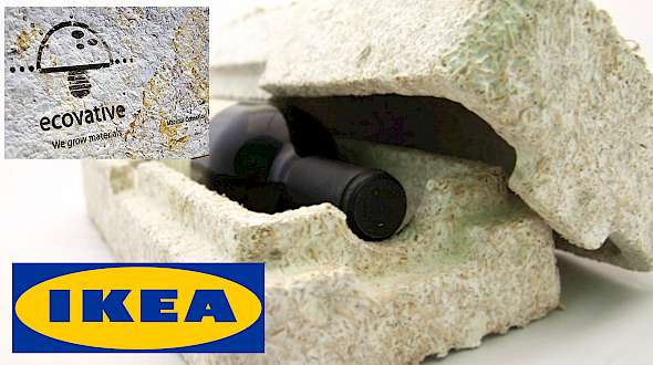 IKEA Switches to New Packaging With Mushrooms