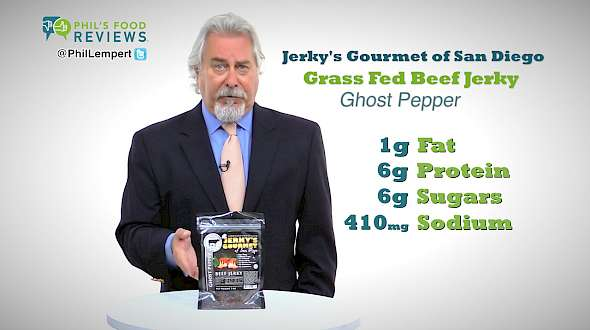Jerky's Gourmet of San Diego Grass Fed Beef Jerky Ghost Pepper