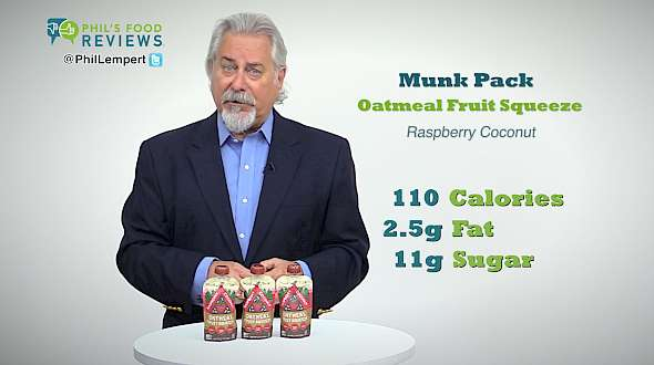 Munk Pack Oatmeal Fruit Squeeze Raspberry Coconut